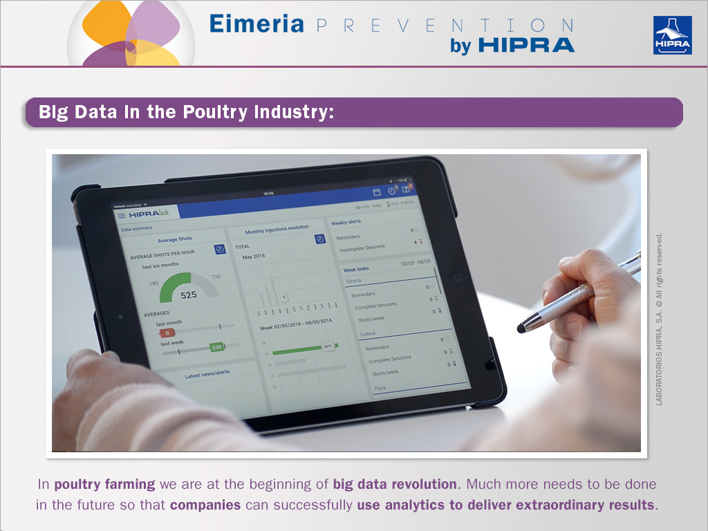 tablet showing data analytics the hipralink app