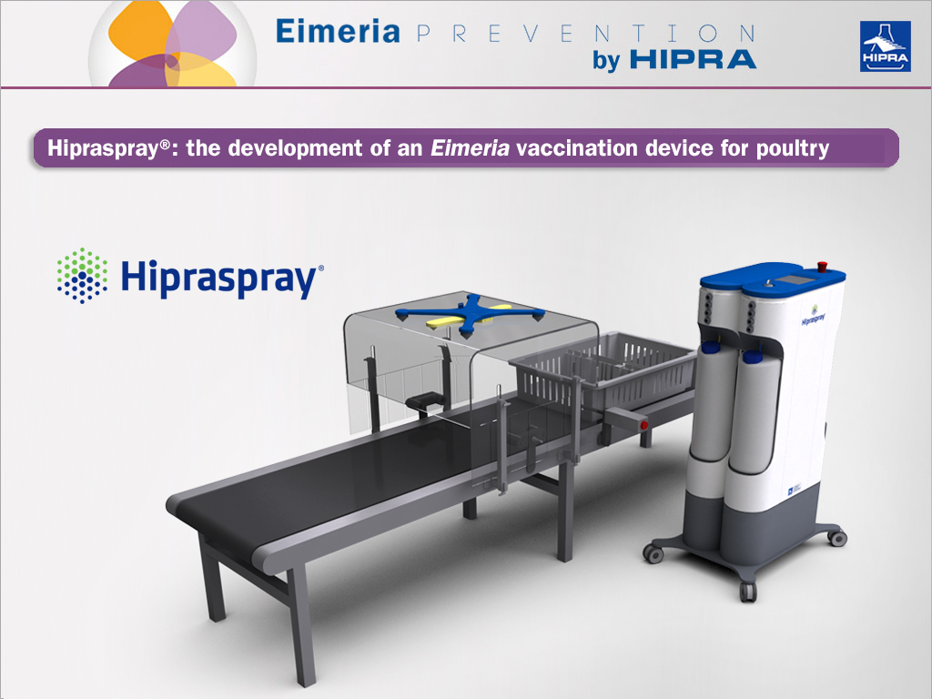 3d representation of hipraspray machine for poultry farms